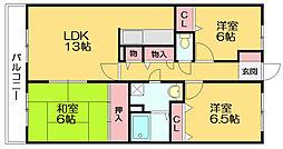 ルーセント篠栗II[1階]の間取り