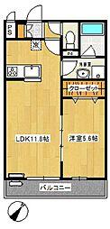 リブリ・千草[2階]の間取り