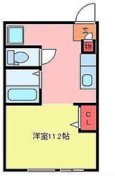 フェリオ毛呂山[3階]の間取り