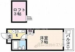 CIEUX京都[405号室号室]の間取り