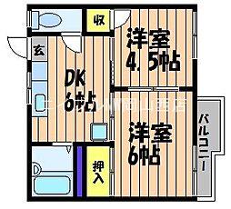 フォーブル下伊福[1階]の間取り