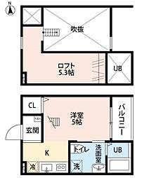 ペンハウスGC[2階]の間取り