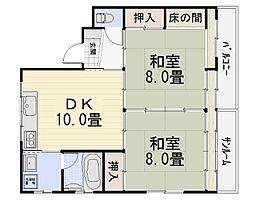 山崎ハイツ[301号室号室]の外観