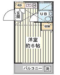ローズアパートD棟[2階]の間取り