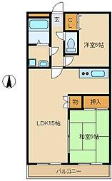メゾンドファミーユ[3階]の間取り