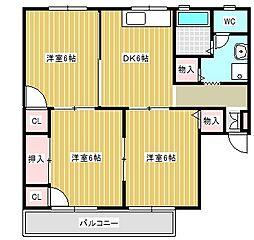 ツインタウン[2階]の間取り