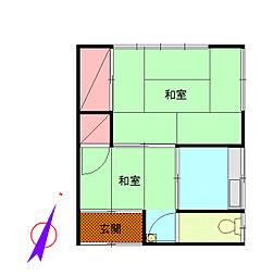 高杉アパート[2F号室]の間取り