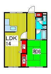 フクロクハイマンション2号館[503号室]の間取り