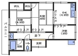 広島県呉市広横路3丁目の賃貸アパートの間取り