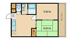 兵庫県尼崎市稲葉荘1丁目の賃貸マンションの間取り