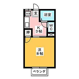 ウッドベルI[1階]の間取り