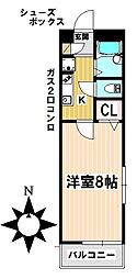愛知県名古屋市昭和区村雲町の賃貸アパートの間取り