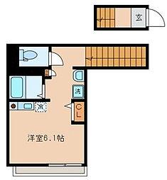 東京都品川区大井4丁目の賃貸アパートの間取り