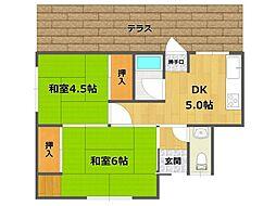 [一戸建] 兵庫県伊丹市緑ケ丘1丁目 の賃貸【/】の間取り
