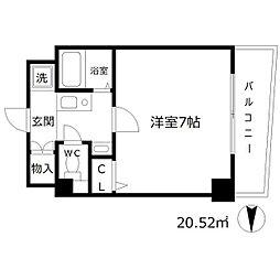 エスリード東梅田[4階]の間取り