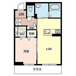 兵庫県加西市北条町東南の賃貸マンションの間取り