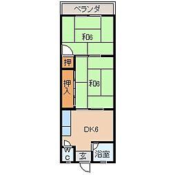 紀三井寺マンション[3階]の間取り