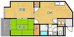 桂デッサム[3階]の間取り