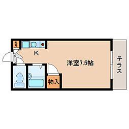 静岡県静岡市駿河区曲金5丁目の賃貸マンションの間取り
