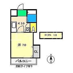 ジョイシティ[3階]の間取り
