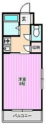 ロータリーマンション萱島西[3階]の間取り