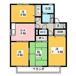 メゾンド・ジュネス B棟[2階]の間取り
