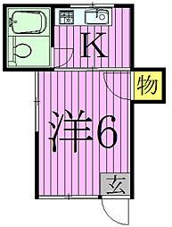 ヨシダコーポ[2階]の間取り