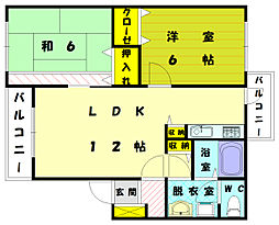 メゾン・ドゥ・コスモス Ⅲ[2階]の間取り