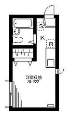東京都品川区東品川1丁目の賃貸アパートの間取り