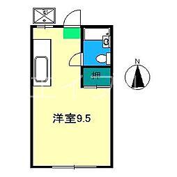 レスト吉田町[2階]の間取り