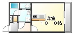 広島県福山市神辺町大字川南の賃貸アパートの間取り
