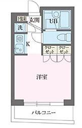 パークフロント西新宿[403号室号室]の間取り