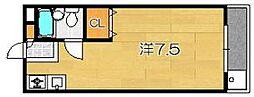 ルミナス桂 1階1Kの間取り