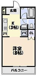 三重県松阪市立田町の賃貸アパートの間取り