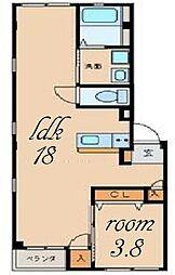グランレーヴ東別院WEST[2階]の間取り