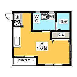 アルブル箱崎南[3階]の間取り