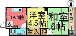 八木沼マンション[201号室]の間取り