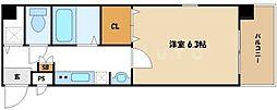Varoque北堀江[3階]の間取り