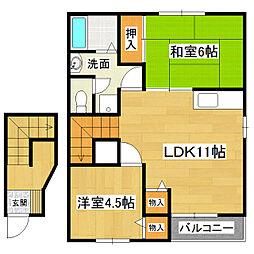 オラシオン土浦C館[2階]の間取り