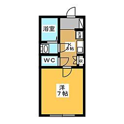 コーポHIRAI[2階]の間取り