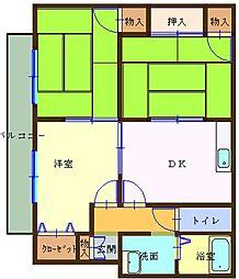 広島県広島市安佐北区可部町大字南原の賃貸アパートの間取り