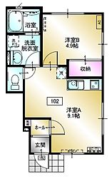 新築 ヴァレーホ[1階]の間取り