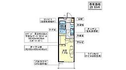 エスト逆井[3階]の間取り