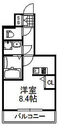 プロシード大阪城南[5階]の間取り