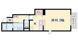 ラカーサミーア 1階1Kの間取り
