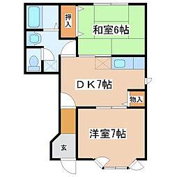クレストール福井B棟[1階]の間取り