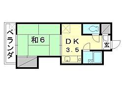 城北電気ビル[203 号室号室]の間取り