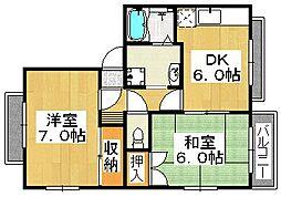 プチメゾンシーホース[2階]の間取り