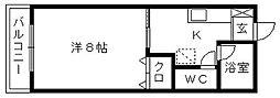 静岡県浜松市中区上島1丁目の賃貸アパートの間取り