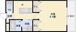 m&mステータス国分[4階]の間取り